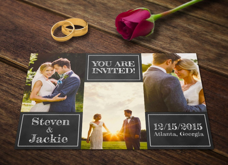 Photography Wedding Invitation Template