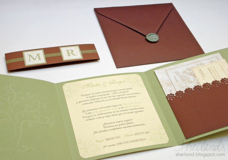 Paper Craft Wedding Invitation
