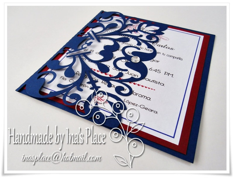 Laser Cut Invitation Card