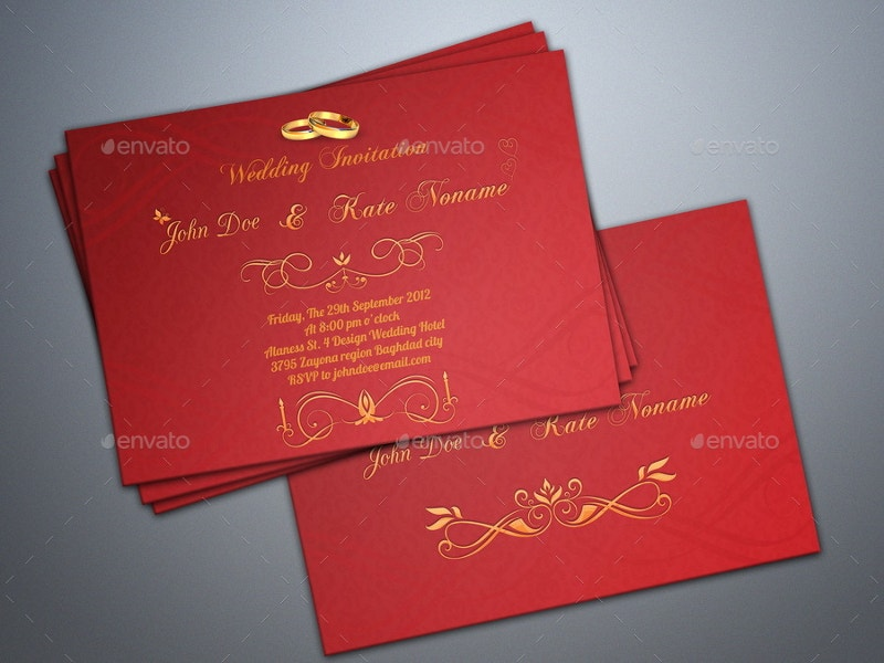 Ceremony Wedding Invitation Card