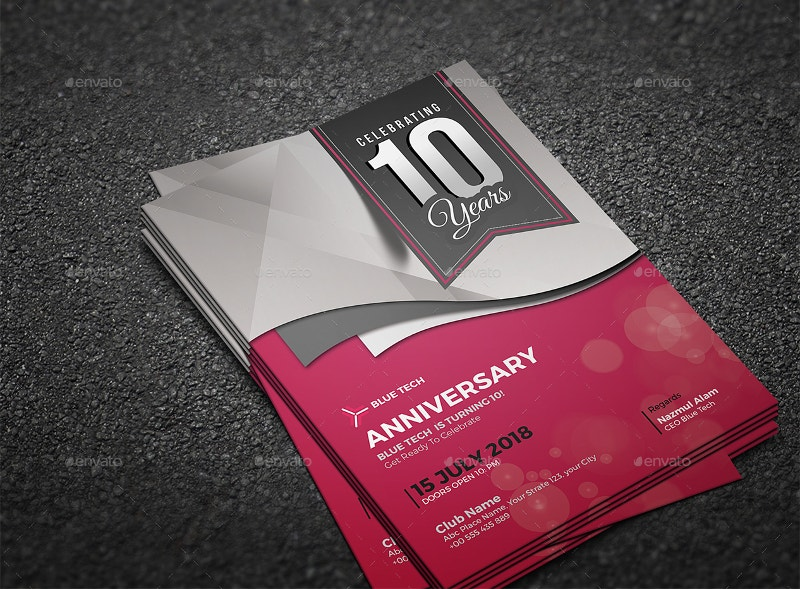 Awesome Anniversary Invitation Card