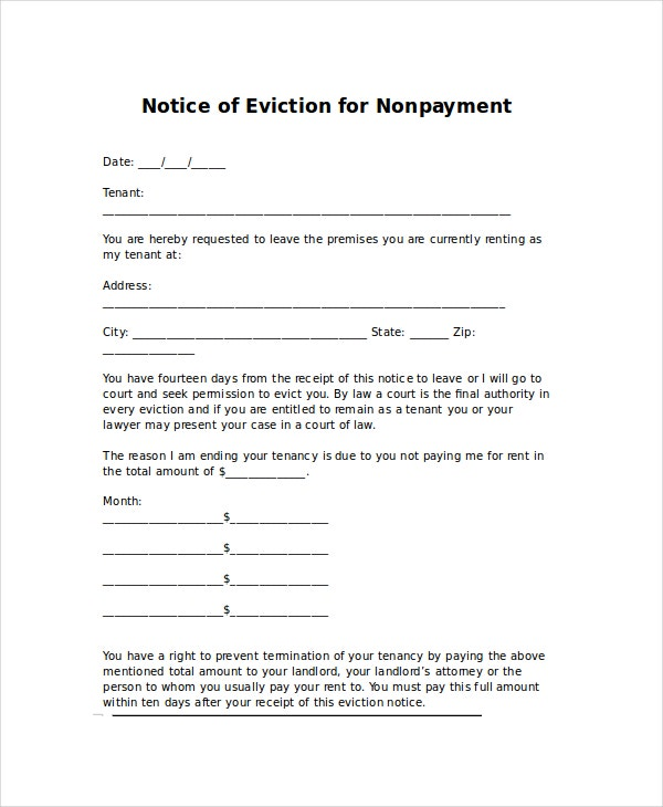 Eviction Letters 8 Free PDF Word Documents Download – How to Write a Letter of Eviction