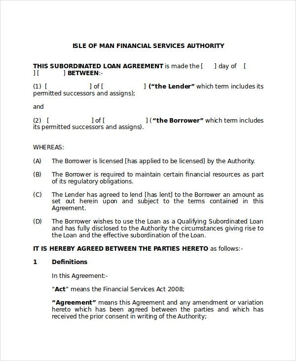 Loan Agreement 10 PDF Word Documents Download – Financial Loan Agreement Template