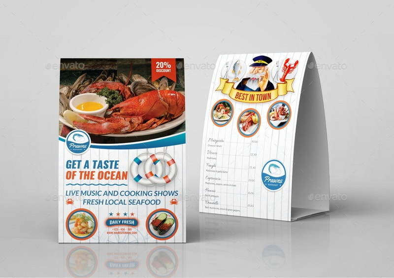 seafood restaurant advertising menu