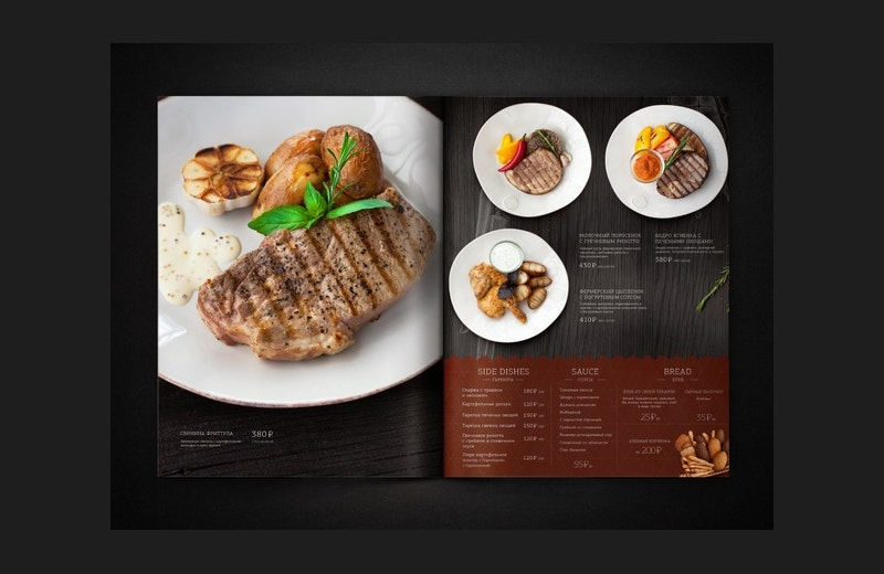 Art Direction Restaurant Menu