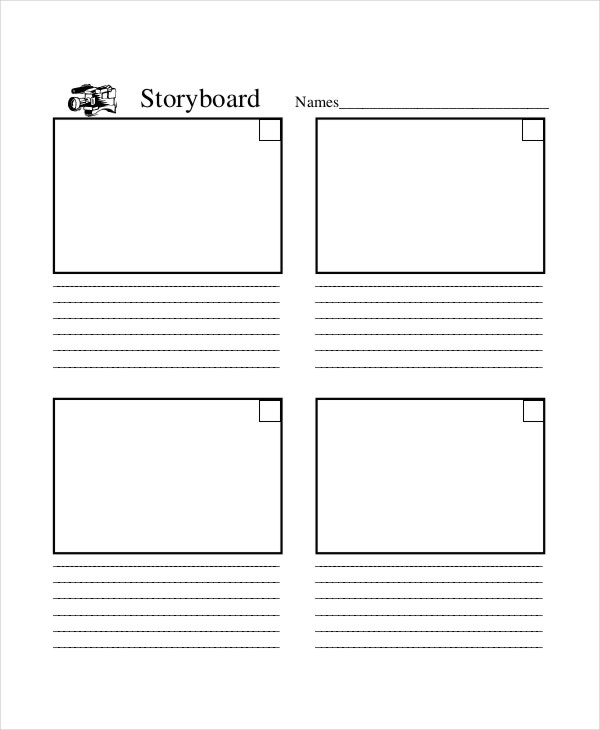 video production storyboard template