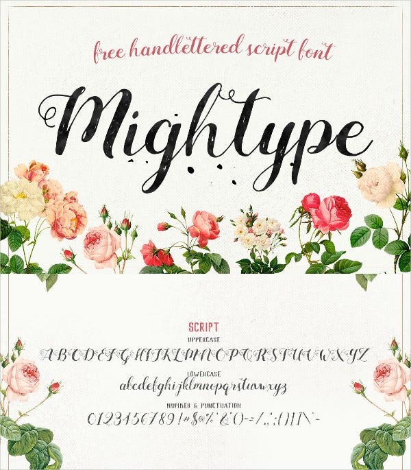 Mightype Script Handwritting Font