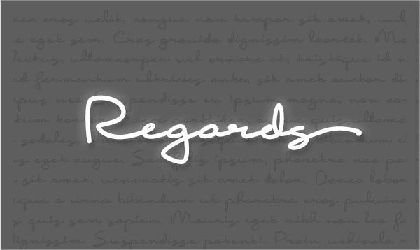Signature Handwritten Font