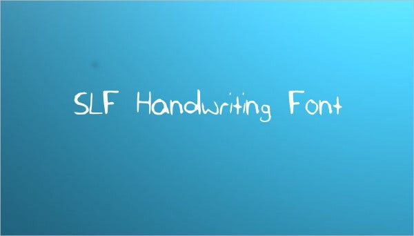 slf handwriting