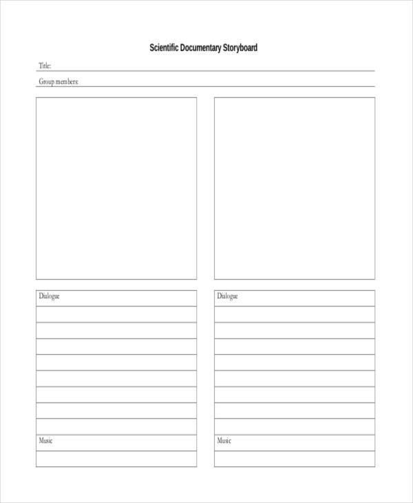 documentary storyboard template