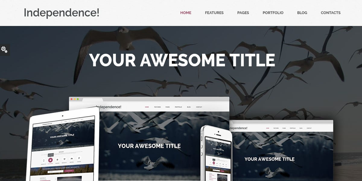 independence flat design bootstrap template 19