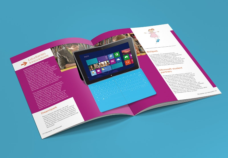 Microsoft Pop-up Brochure