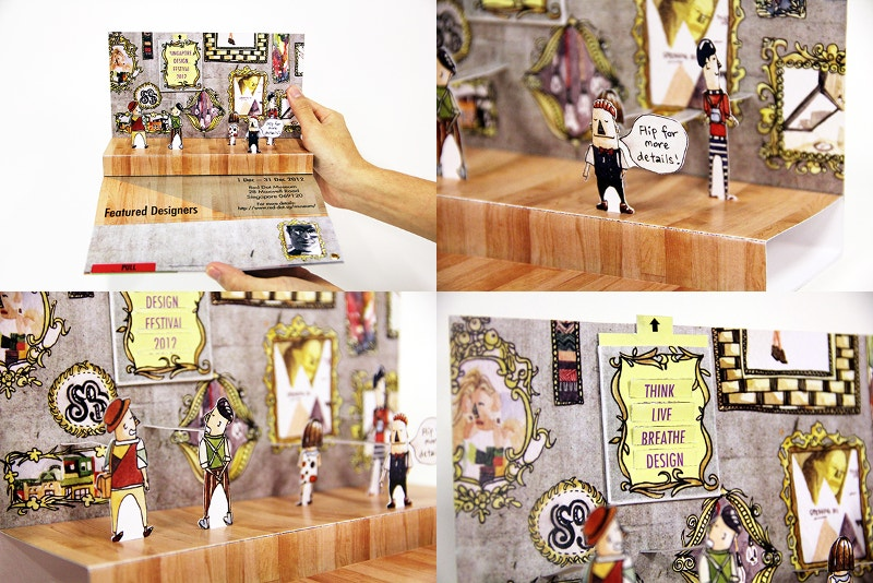 Illustration 3D Pop-up BrochureIllustration 3D Pop-up Brochure