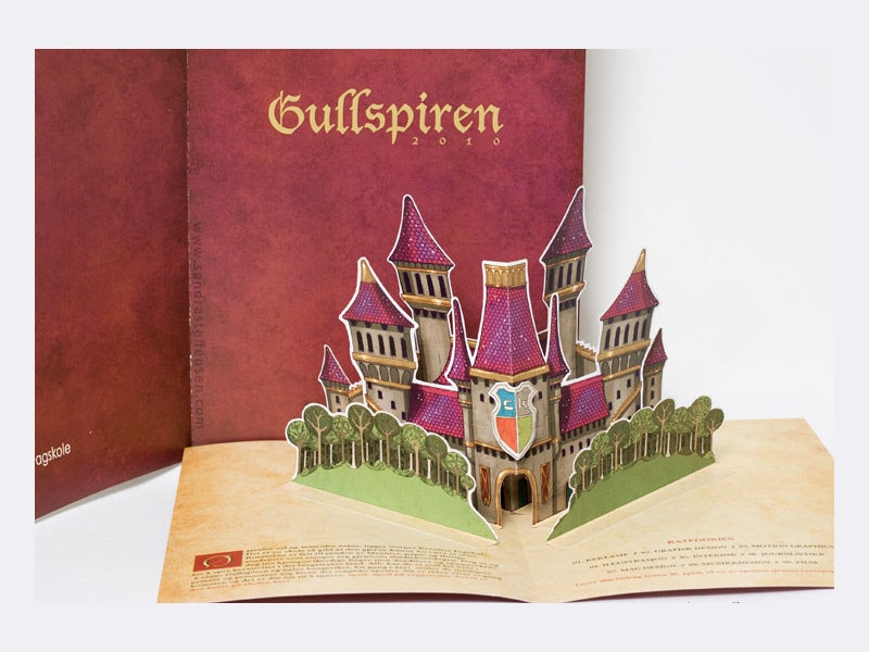 fantasy 3d pop up brochure