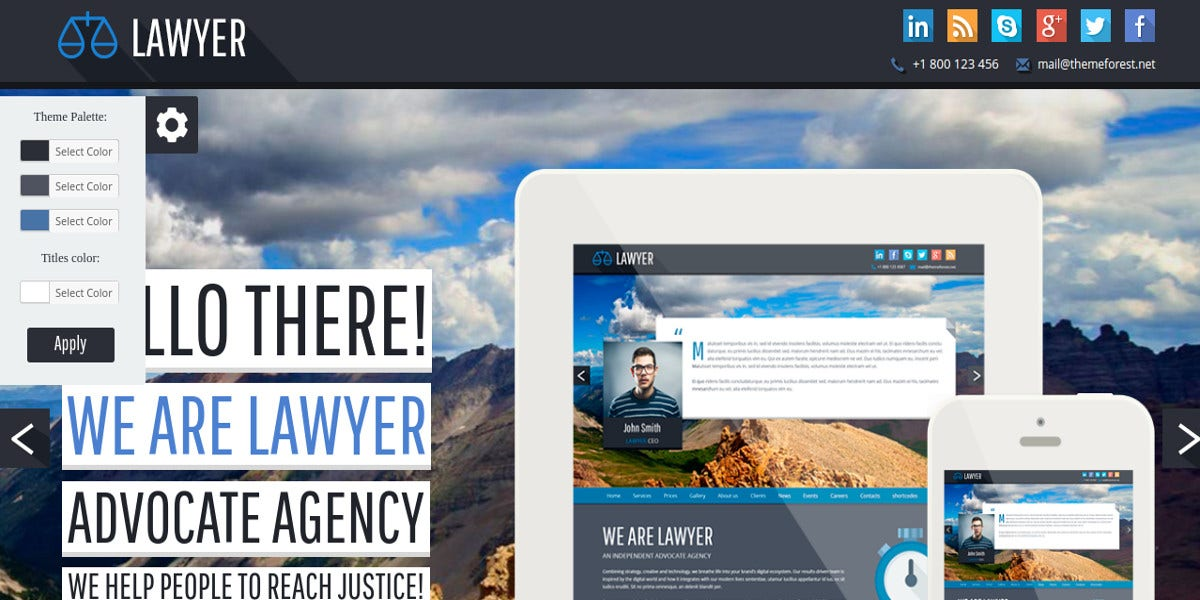 responsive theme for lawyer1