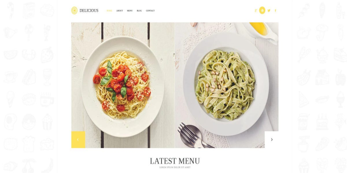 modern bootstrap templates related to food website 75