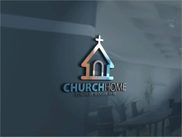 Church Home Logo Template