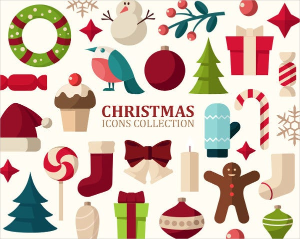 27 Christmas Icons Clip Art