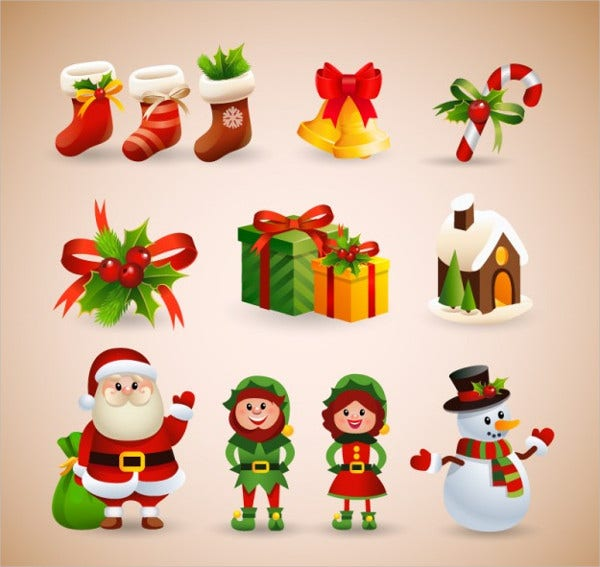 christmas collection free vector