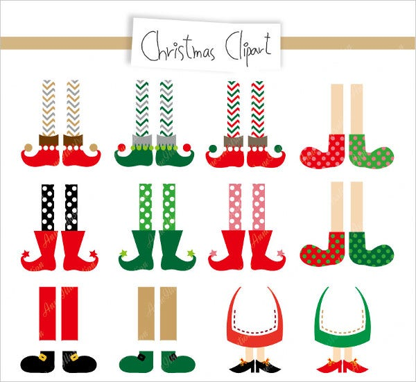 Christmas Feet Clipart Icons