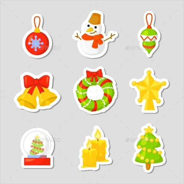 Christmas Gift Icon Set