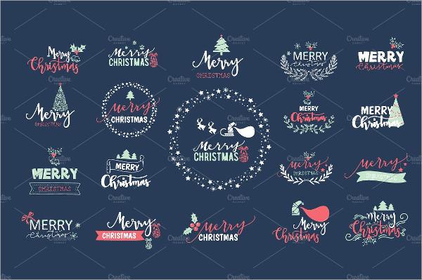 editable christmas icon