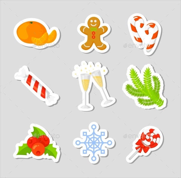 Festival Christmas Icon Set