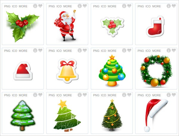 homely design set christmas icons