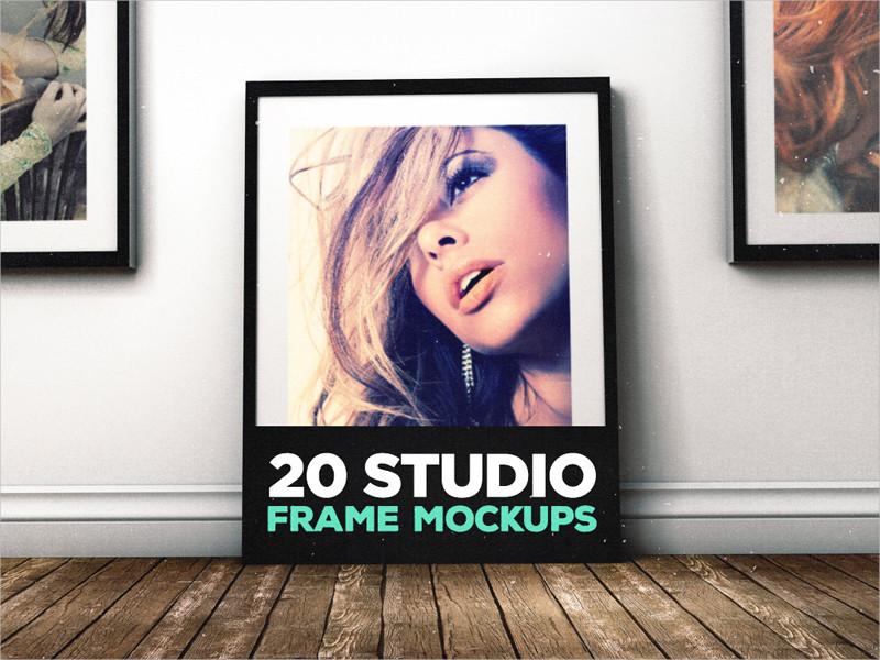 20 studio frame mockup