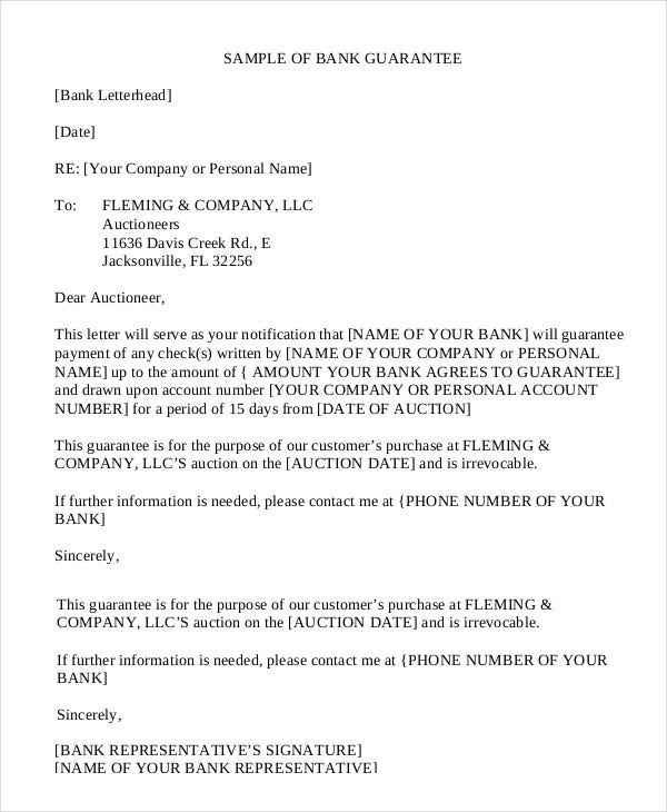 Letter of guarantee 15 free sample example format free bank guarantee letter template in pdf altavistaventures Gallery