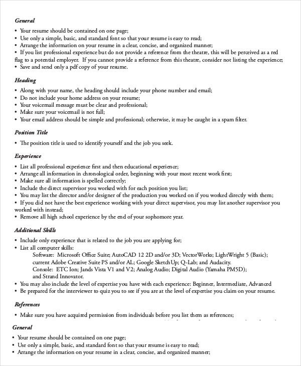 actor resume example 9 free word pdf documents