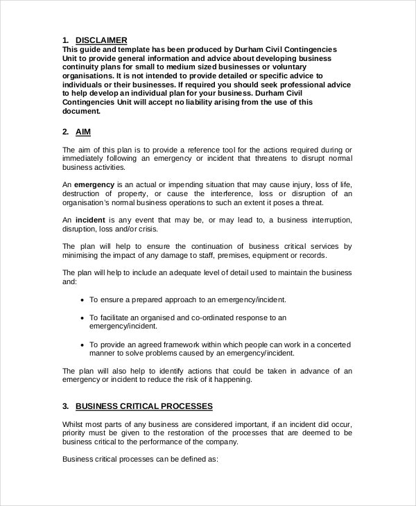 Business continuity plan 9 free pdf word download document business continuity plan template for small business cheaphphosting