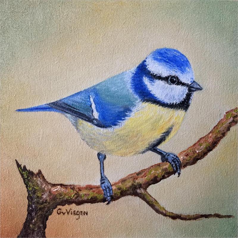 beautiful birt art painting