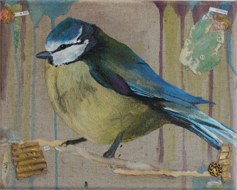 bluetit bird art work