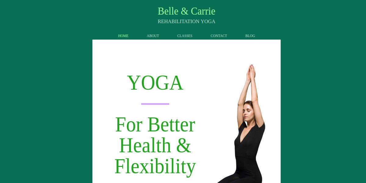 free yoga fitness website theme