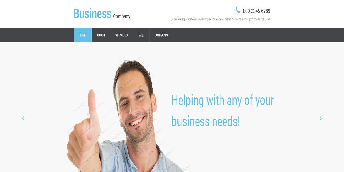 free business company responsive website template