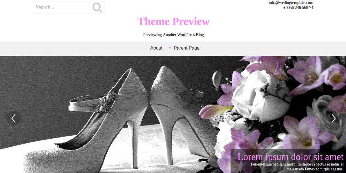 free-wedding-style-wordpress-website-theme