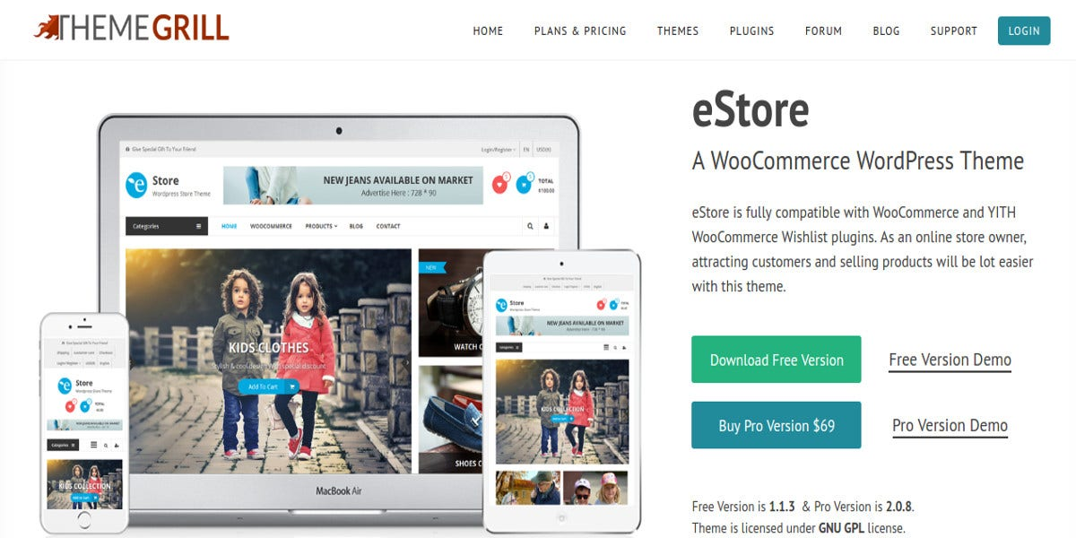 free ecommerce wordpress website theme