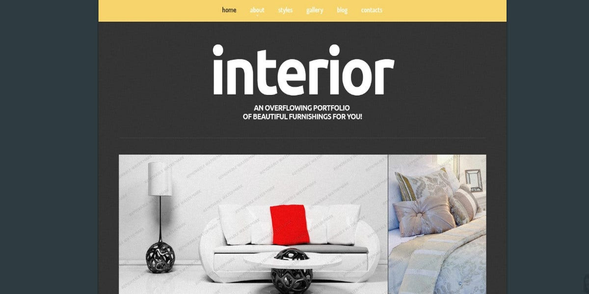 free interior joomla website template