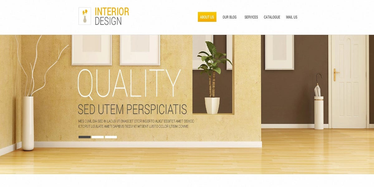 free interior design responsive drupal website template