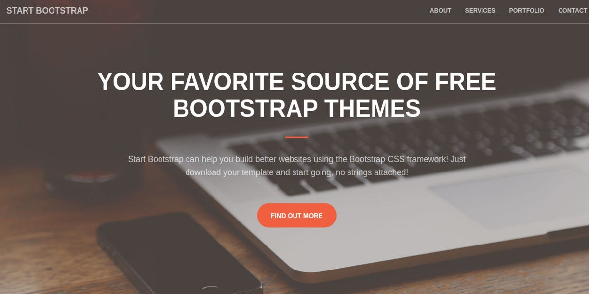free small business bootstrap website theme