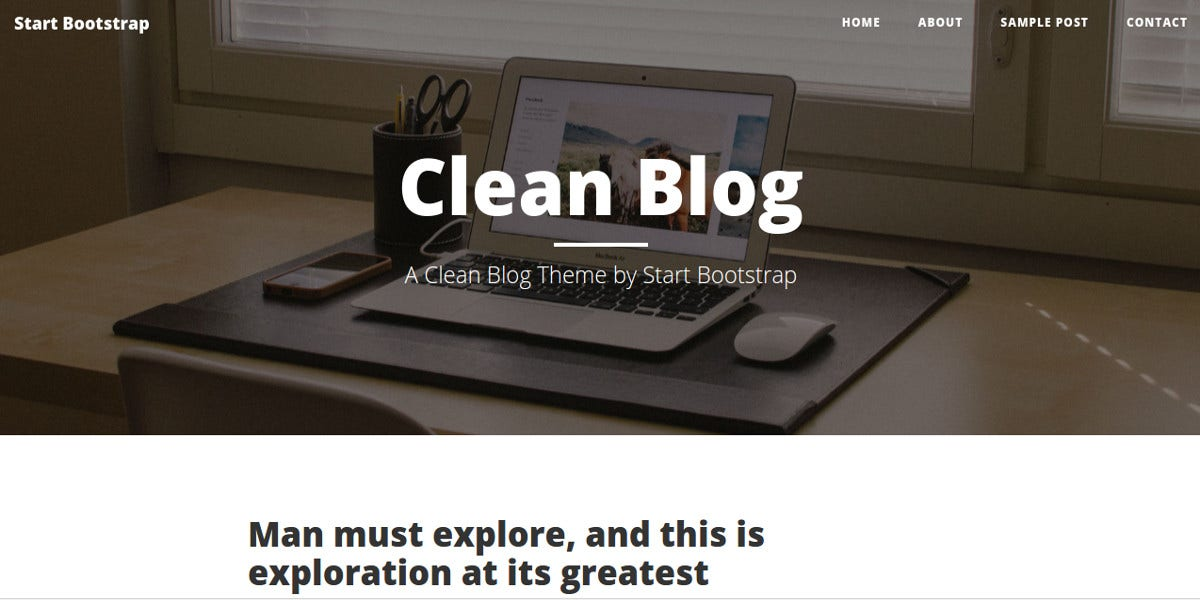 free company blogs bootstrap website theme