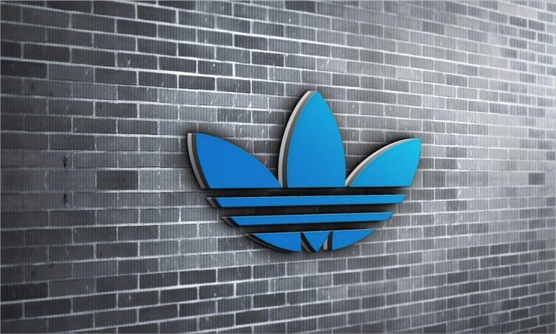 3D Brick Wall Logo MockUp
