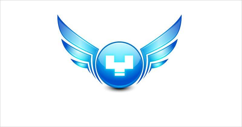Wings Design 3D Logo
