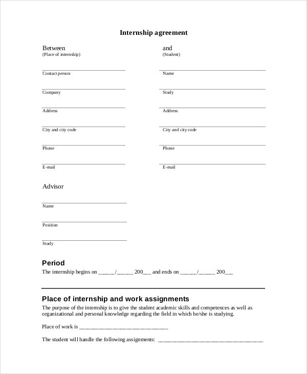 Internship Confidentiality Agreement Template