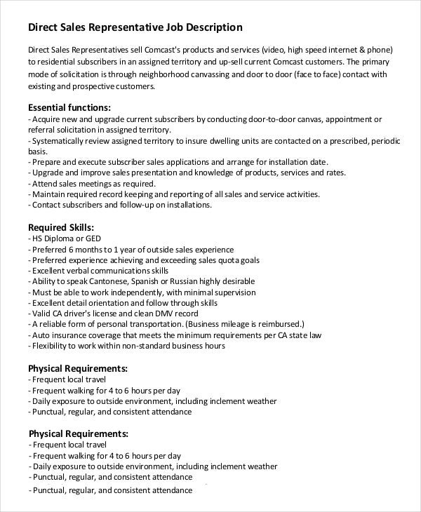 Sales Job Description Pre Sales Engineer Job Description Sales