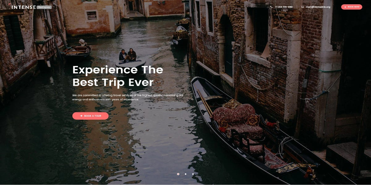 travel agency landing page template 19