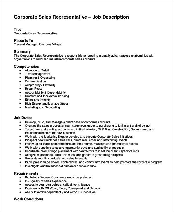 corporate-sales-representative-job-description-template