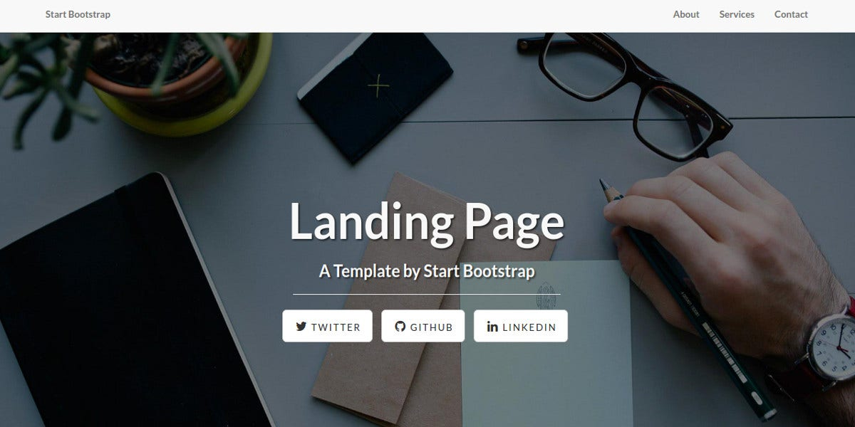 responsive landing page theme for website