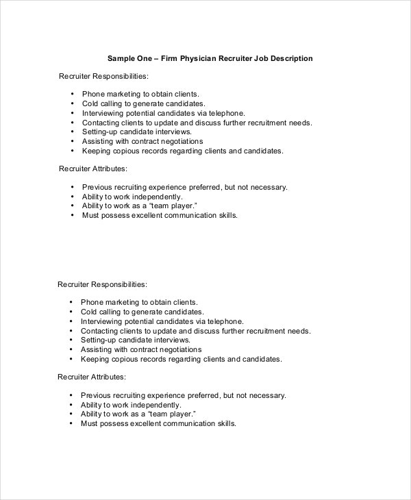 Physician Job Description - Free Sample, Example, Format | Free